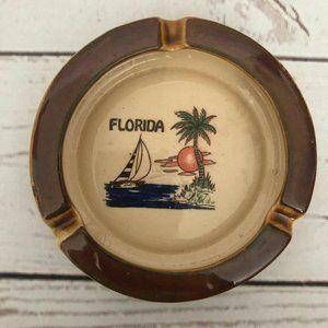 VTG Retro Nostalgic Florida Tourist Round Ashtray